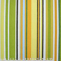 Тканина меблева оранжево-зелені, салатово-жовті, білі смужки ш.150 (20406.031)