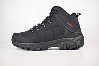 Мужские зимние ботинки на меху в стиле Merrell, нейлон, черные с красным 41 (26,5 см)