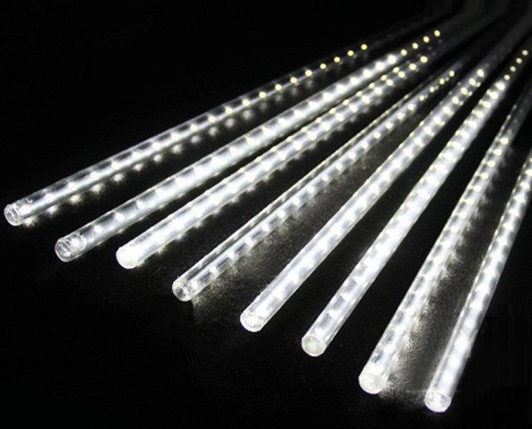 Гирлянда сосульки прозрачный шнур 8 шт, 50 см, белые