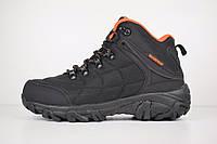 Мужские зимние ботинки на меху в стиле Merrell, нейлон, черные с оранжевым 42 (27,5 см)