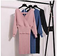 Костюм женский с люрексом, кофта и юбка, фото 1