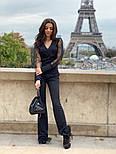 Женский комбинезон с пышными рукавами из фатина с высокими брюками по фигуре, фото 2