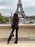 Женский комбинезон с пышными рукавами из фатина с высокими брюками по фигуре, фото 3