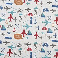 Деко-лен молочный в самолеты, велосипеды, ш.150 (20501.056)