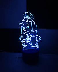 3d-світильник Симка (фиксики), 3д-нічник, кілька підсвічувань (батарейка+220В)