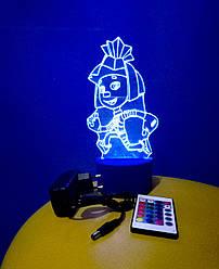 3d-світильник Симка (фиксики), 3д-нічник, кілька підсвічувань (на пульті)