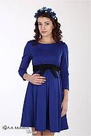 """Платье для беременных и кормления""""Vilena"""" из структурного трикотажа, синий электрик 1"""