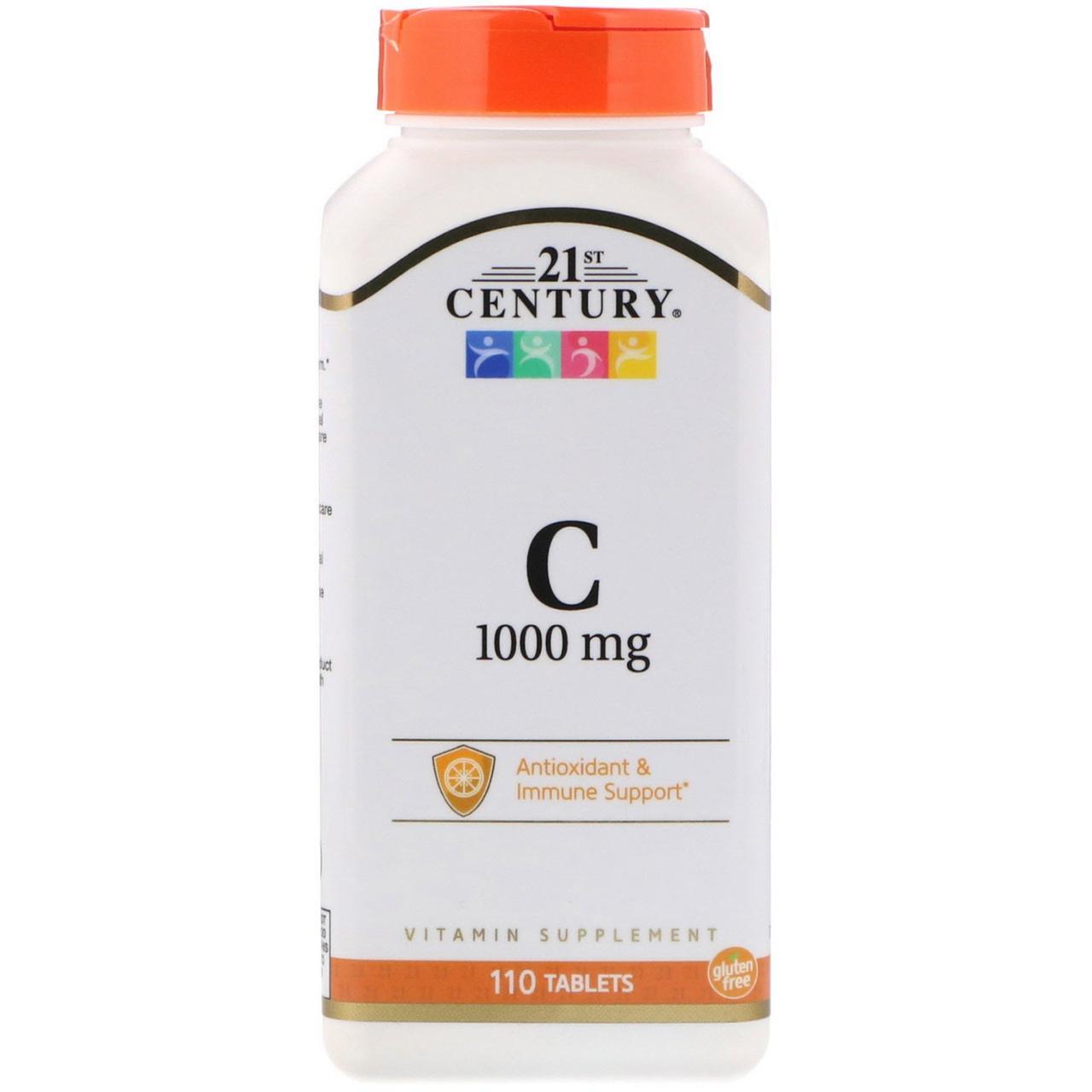 Вітамін С, 21st Century Health Care, 1000, 110 таблеток