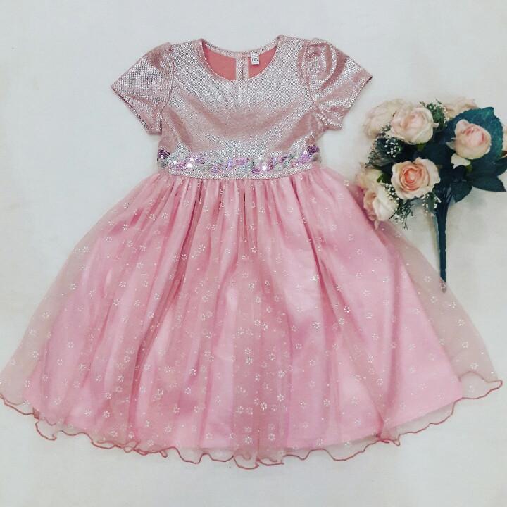 Нарядное розоаое платье для девочки 98-116