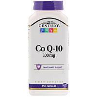 Коэнзим Q10, 21st Century Health Care, 100 мг, 150 капсул