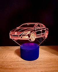 3d-світильник Фольксваген, Volkswagen, 3д-нічник, кілька підсвічувань (на батарейці)