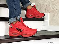 Мужские зимние кроссовки на меху в стиле Reebok I3, кожа, пена, красные 43 (27,6 см)