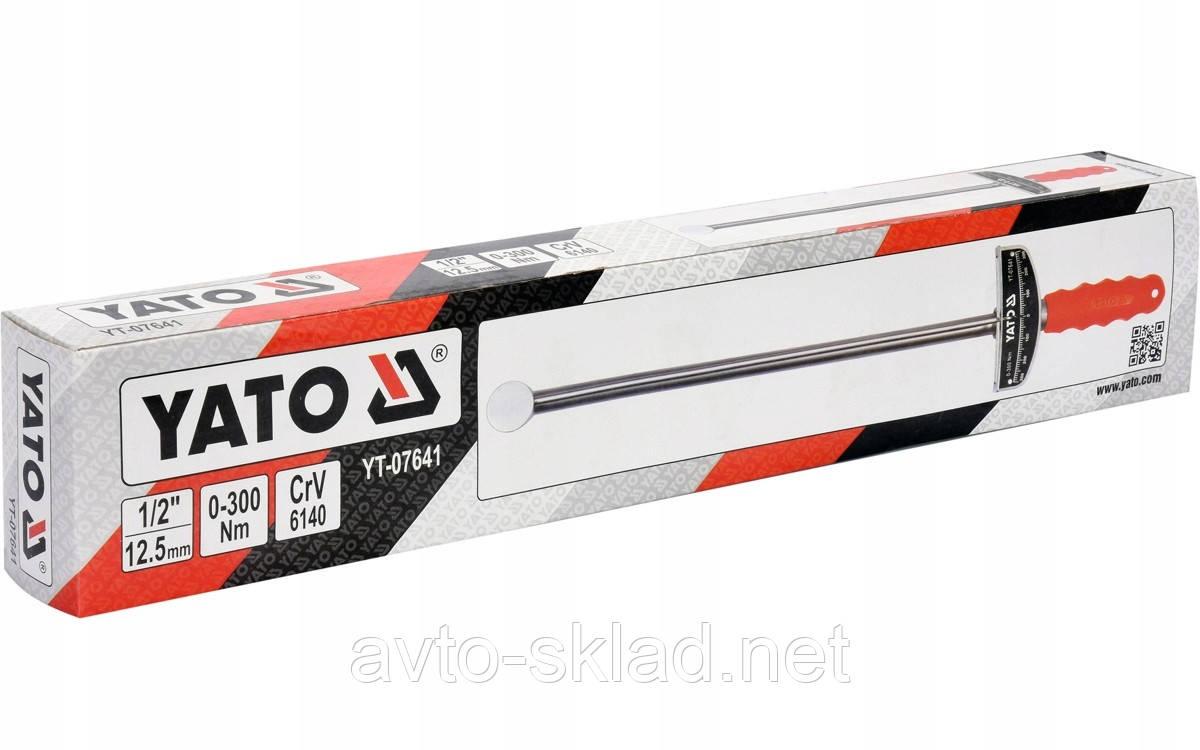 Ключ динамометрический 1/2 0-300NM YATO YT-07641
