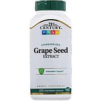 Экстракт виноградных косточек, 21st Century Health Care 200 кап.