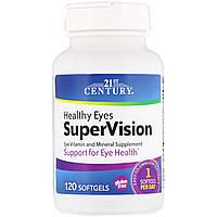 Вітаміни для очей, 21st Century Health Care, 120 гельових капсул