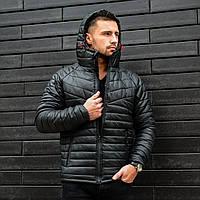 Куртка мужская спортивная стеганая (черная)