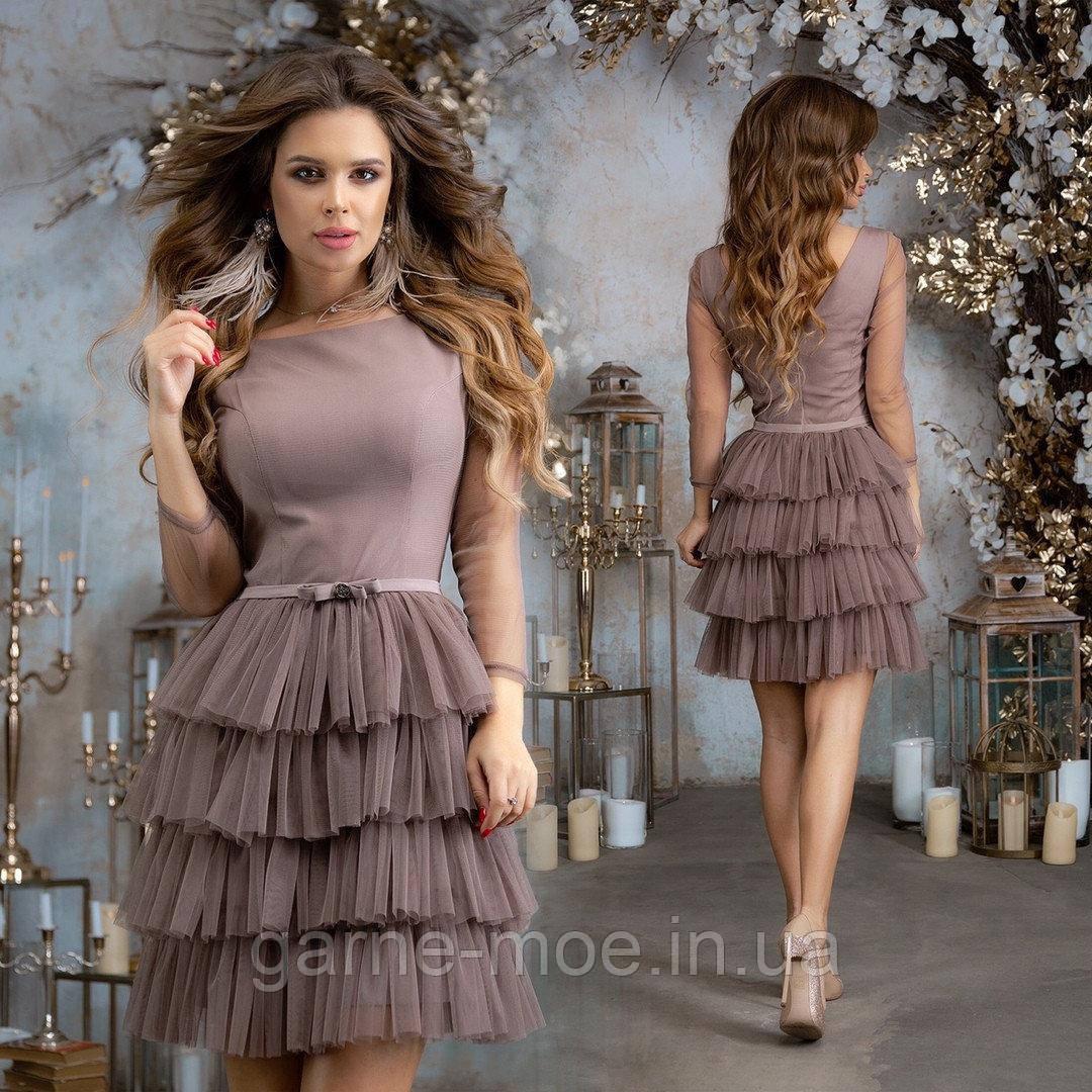 Е47287 Женское нарядное платье, фото 1