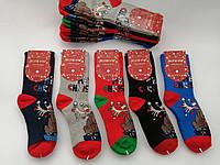 Махровые женские носки  новый год