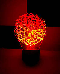 3d-светильник Цветок, 3д-ночник, несколько подсветок (на батарейке), подарок для женщины
