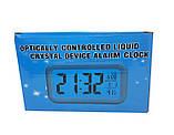 Часы настольные с подсветкой, температурой, будильником. опт Голубой, фото 5