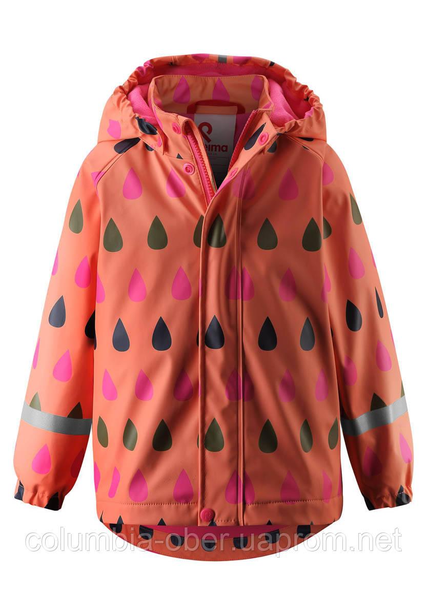 Демисезонная куртка-дождевик для девочки Reima Koski 521507.9-3221. Размеры 98 - 128.