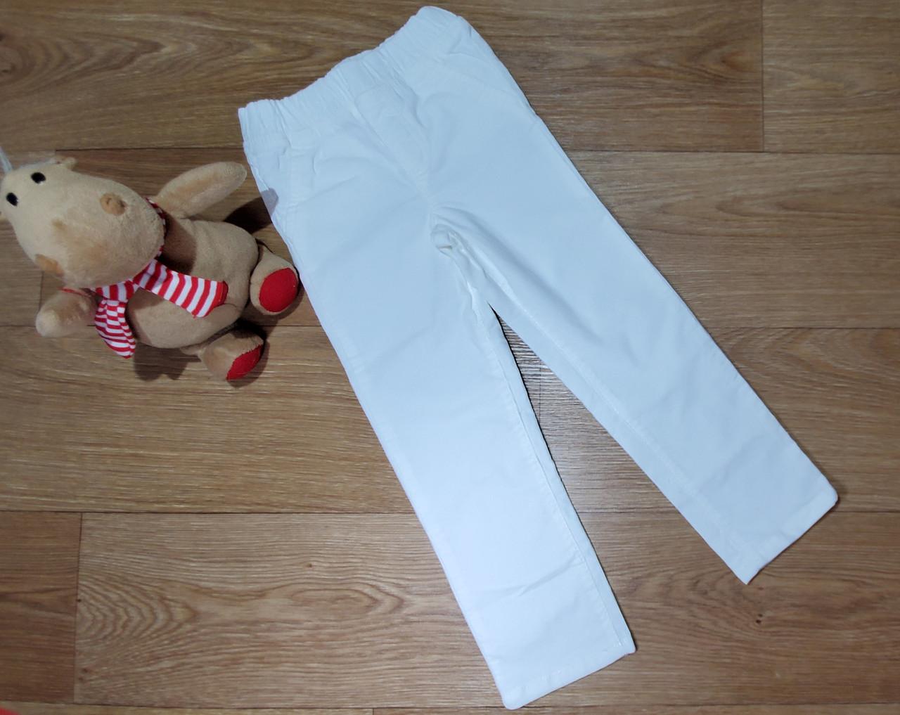 Нарядные белые стрейчевые вельветовые брюки скинни на девочку Carter's (США)