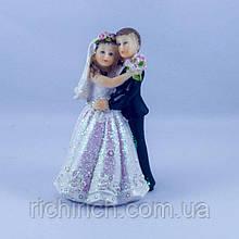 Статуэтка свадебная полистоун, статуэтка для свадебного торта 10 см