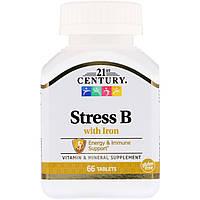 Стресс В и железо,21st Century Health Care,66 таблеток