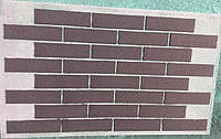Гибкий кирпич, цвет коричневый (швы белые)
