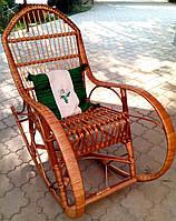 Кресло качалка плетеное из лозы | кресло-качалка для отдыха садовая для дачи