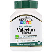 Екстракт валеріани, 21st Century Health Care, 60 капсул