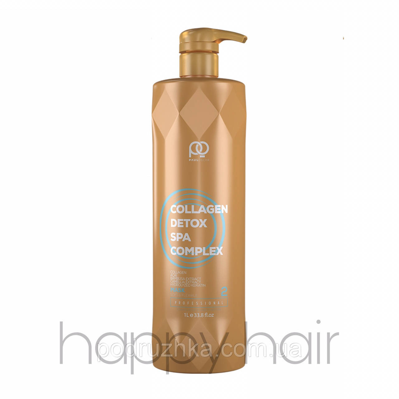 Paul Oscar Collagen Detox SPA Complex Кератин для волос (шаг 2) 1000 мл