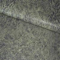 Кожа искусственная серо-болотная с рисунком (20842.005)