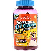 Мультивитамины и минералы +С, Zoo Friends Multi Gummies, 21st Century Health Care, 150 жел.