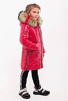 Зимнее лаковое пальто для девочек рост 107-140, фото 3