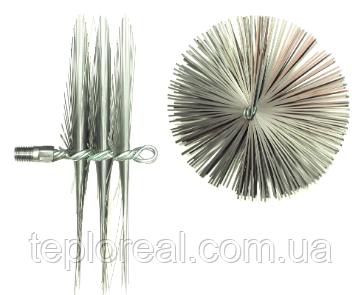 Щётка Ерш  для чистки дымохода, котла, камина  металлическая плоская D 175 мм