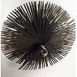 Щётка Ерш  для чистки дымохода, котла, камина  металлическая плоская D 175 мм, фото 2