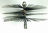 Щётка Ерш  для чистки дымохода, котла, камина  металлическая плоская D 175 мм, фото 3