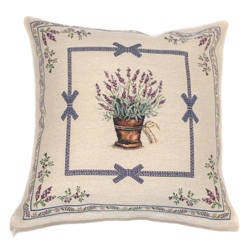 Наволочка декоративна гобеленова Іспанія Emilia Arredamento Лавандовий сад 45×45 см