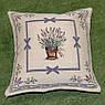 Наволочка декоративна гобеленова Іспанія Emilia Arredamento Лавандовий сад 45×45 см, фото 3