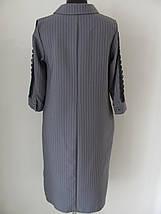 Сукня рівного крою, принт смужка, гудзики до пояса, тканий пояс в комплекті, р. 50,52 код 1473М, фото 2