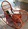 Кресло качалка плетеное шоколадное