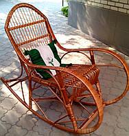 Кресло качалка плетеное шоколадное, фото 1