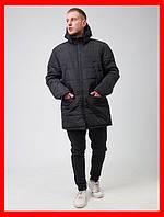 Куртка зимняя мужская парка,черная ,повседневный стиль