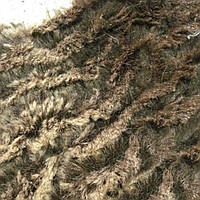 Мех искусственный коричнево-шоколадный жатый, ш.150 (21203.001)
