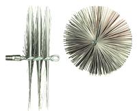 Щётка Ерш  для чистки дымохода, котла, камина  металлическая плоская D 400 мм