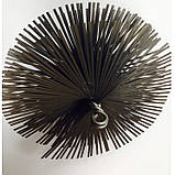 Щётка Ерш  для чистки дымохода, котла, камина  металлическая плоская D 400 мм, фото 2