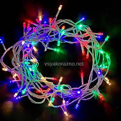 Гирлянда светодиодная на елку 100 LED 7 метров (мультиколор)