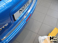 Nissan Note 2004-2013 гг. Накладка на задний бампер Натанико (нерж.)