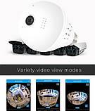 Панорамная Wi-Fi IP камера 360° (лампа) EC75B-P12, фото 6